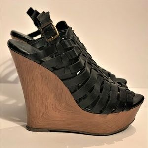 Mossimo Supply Co. Strappy platform Wedge sandles